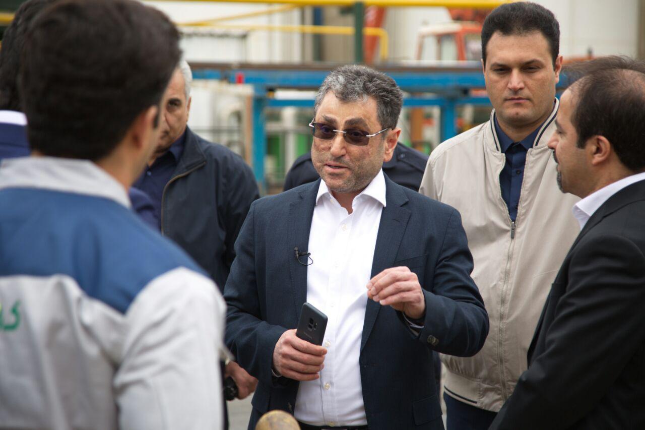 بازدید مدیر عامل گروه صنعتی گلرنگ از کارخانجات قزوین