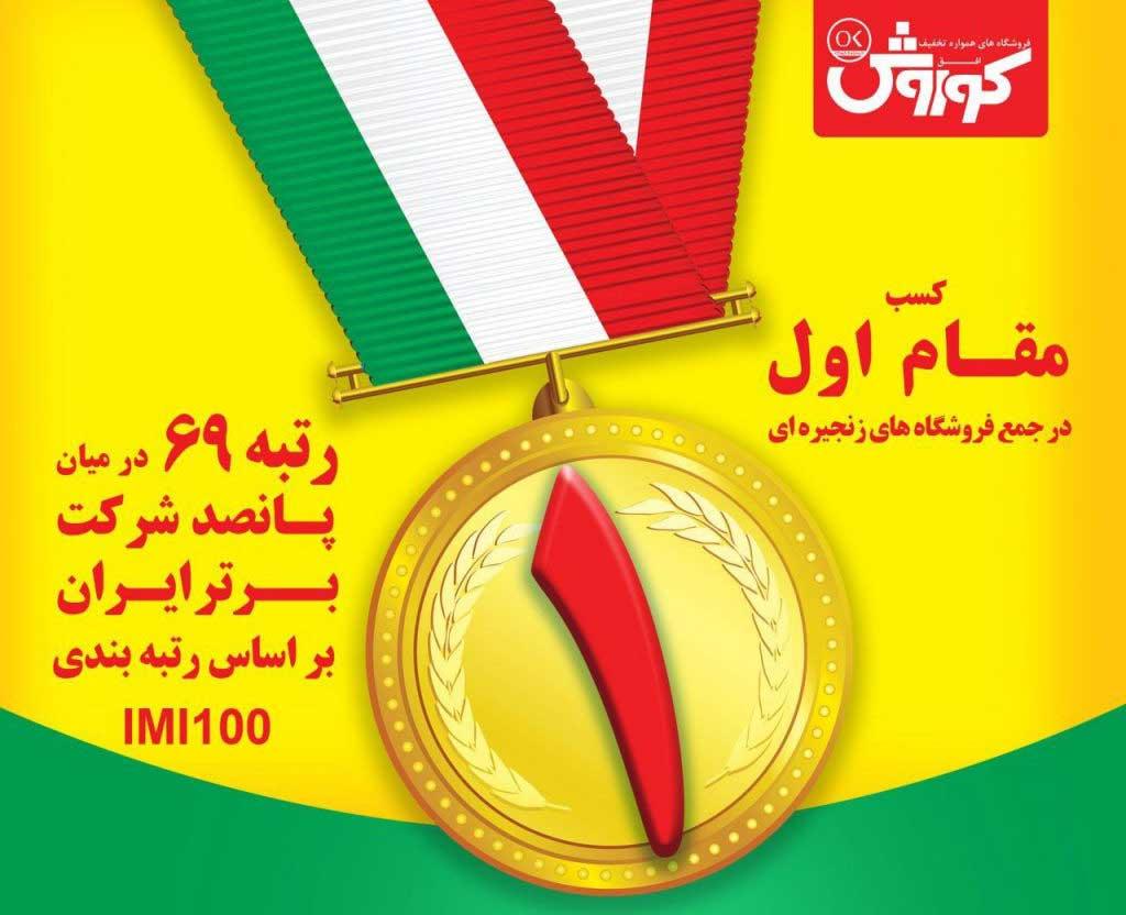 انعکاس خبر قرار گرفتن افق کوروش در جمع صد شرکت برتر اقتصاد ایران در رسانهها