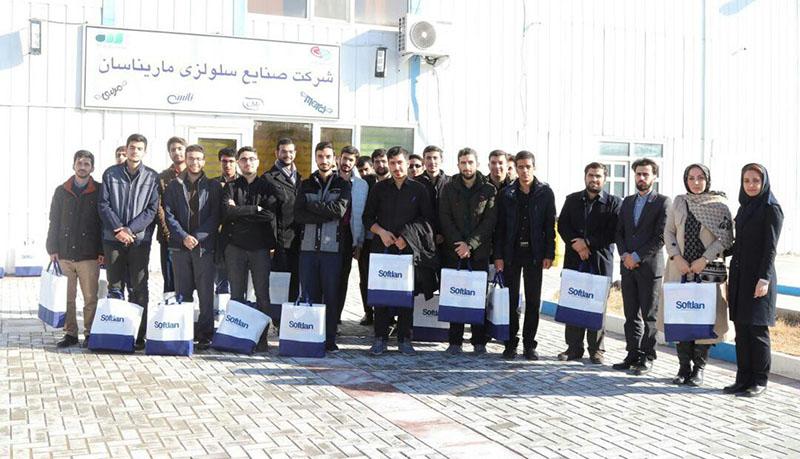 بازدید دانشجویان دانشگاه امام صادق (ع) از کارخانه ماریناسان